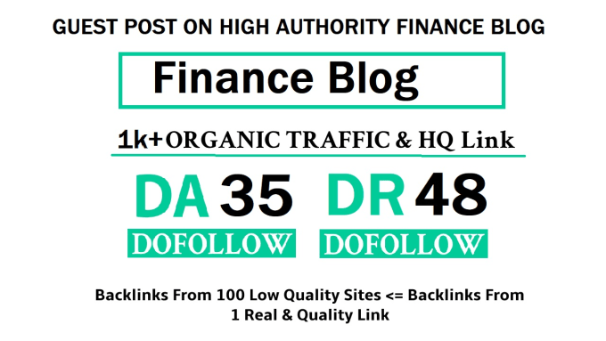Niche Finance Blog for Guest Post